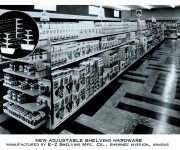 Grocery and liquor stores installed E-Z Shelving in the 40s and 50s.