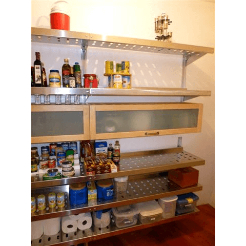 Louvered Pantry Shelving by E-Z Shelving Systems, Inc.