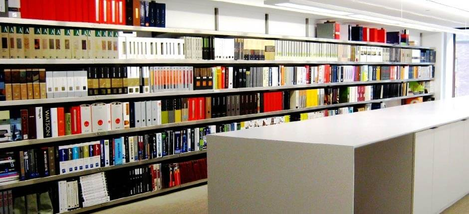 Library Shelving in Aluminum by E-Z Shelving Systems, Inc.