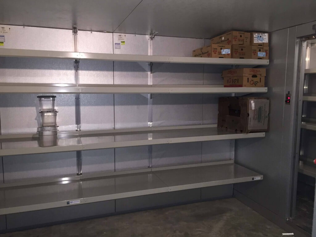 Custom-Fit Walk-in Cooler Shelving by E-Z Shelving Systems, Inc.
