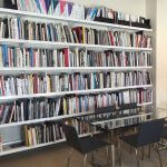 Library Shelving in White Powder Coat by E-Z Shelving Systems, Inc.