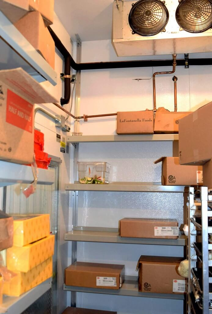 Walk-in Cooler Shelving by E-Z Shelving Systems, Inc. - Fit around Condensation Lines