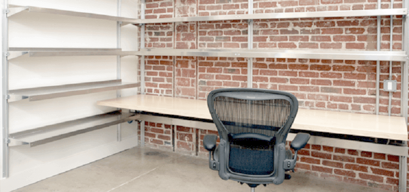 Workstation Shelving with Desktop by E-Z Shelving Systems, Inc.