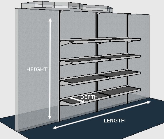 Wall mounted garment rack by e z shelving systems Wall mounted shelf systems