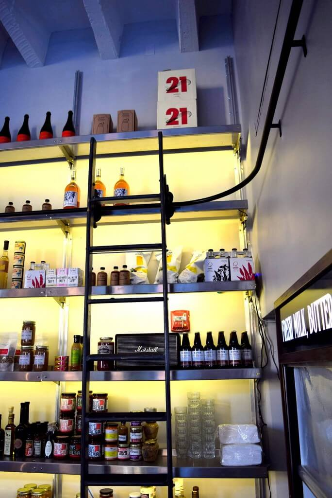Product Display Shelving at Union Larder by E-Z
