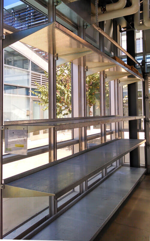 Galvanized Shelves by E-Z Shelving Systems