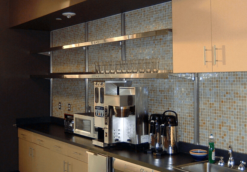 Wall-Mounted Shelving - Above-Counter