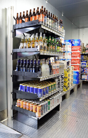 Freestanding Shelving - Beer Cave by E-Z Shelving Systems, Inc.