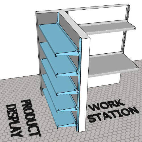 Metal Shelving in Custom Dimensions by E-Z Shelving Systems, Inc.