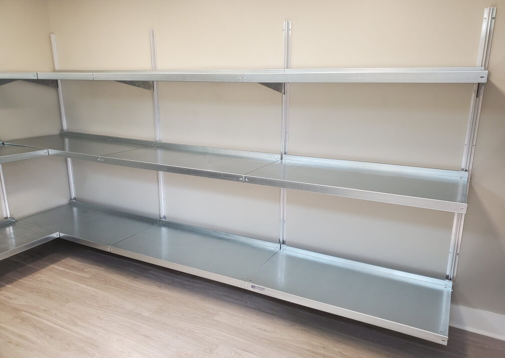 Affordable Package Room Shelving by E-Z Shelving Systems