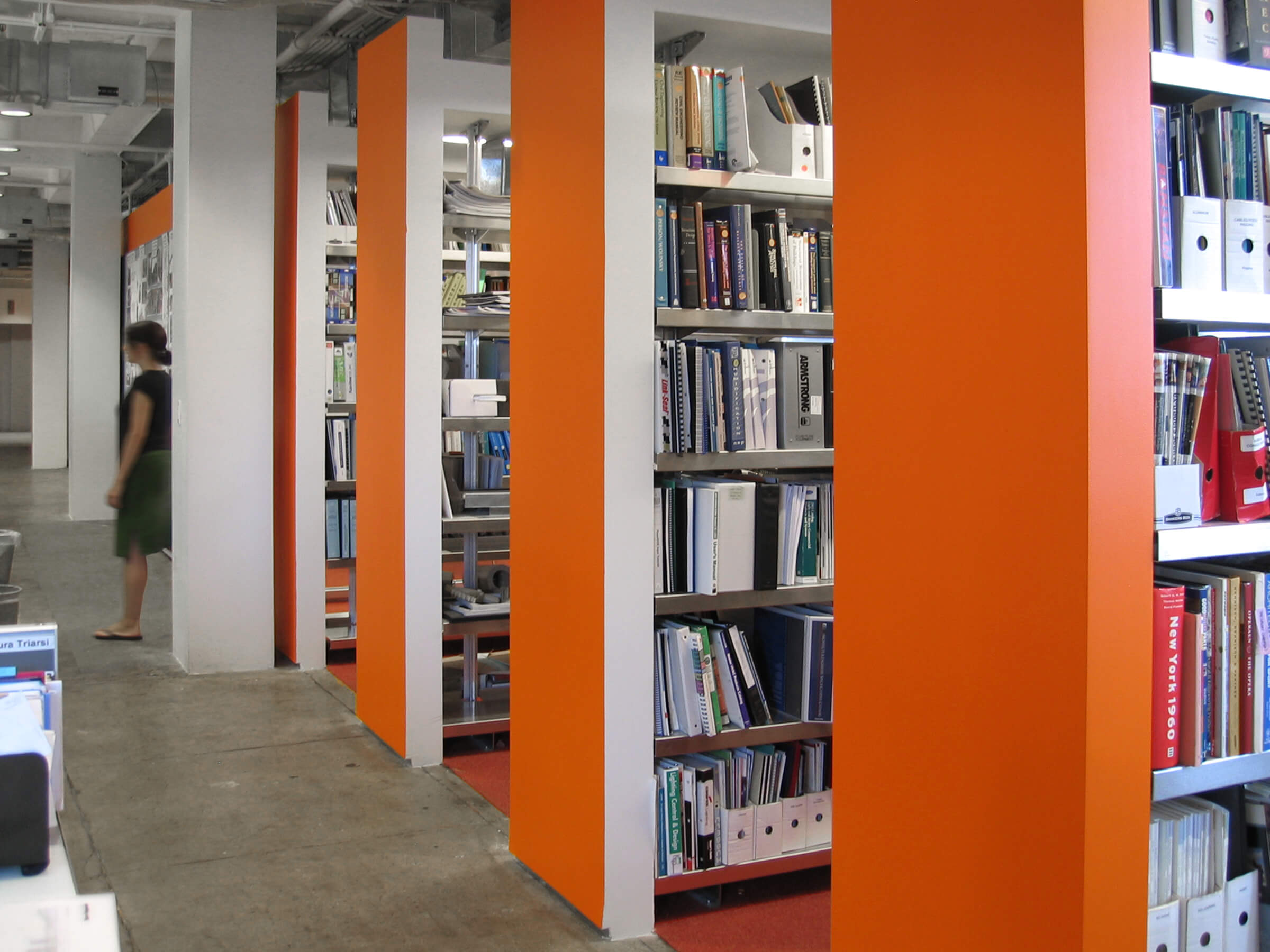 Back To Back Library Shelving by E-Z Shelving Systems