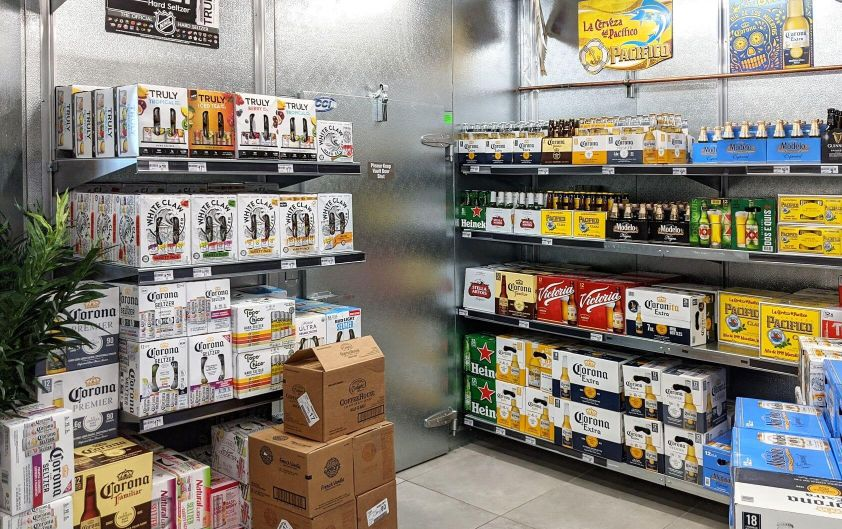 Beer Cave Shelving Galvanized Steel E-Z Shelving Systems