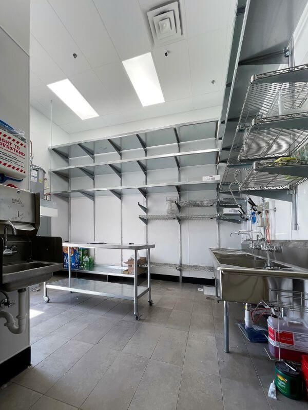 Commercial Kitchen Shelving Systems by E-Z Shelving Systems