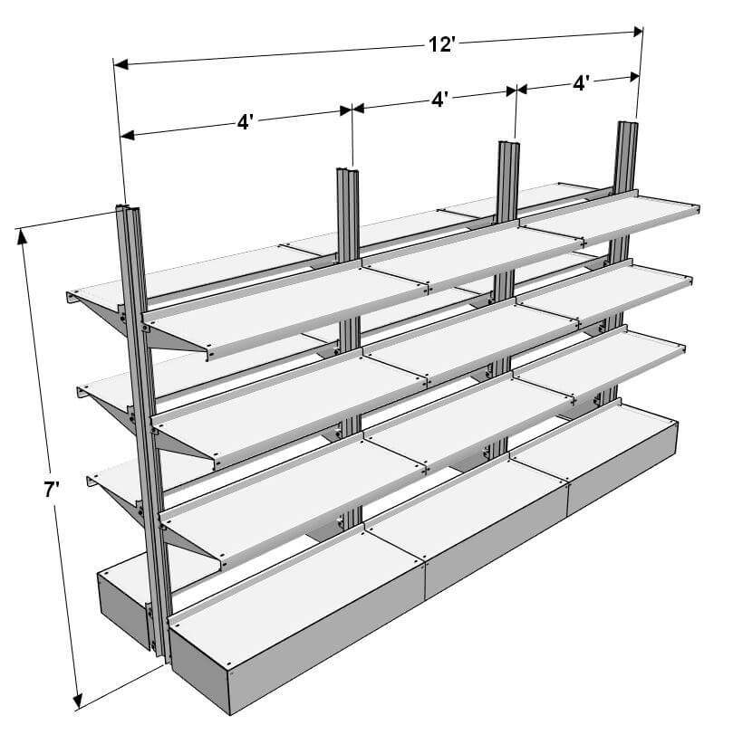 Freestanding Island Shelving for your Package Room