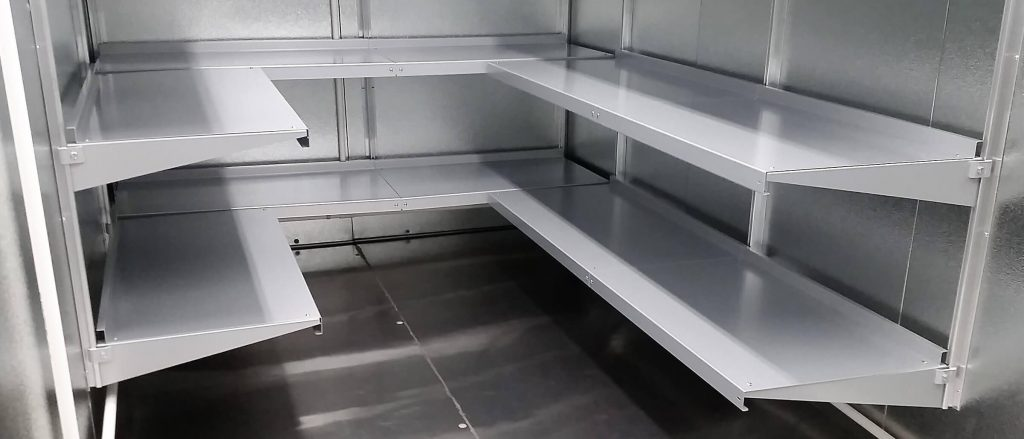 Hygienic Mortuary Shelving by E-Z Shelving Systems