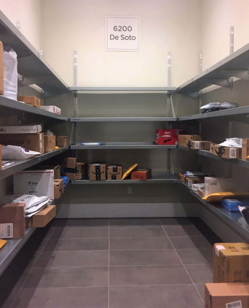 Package Room Shelving by E-Z Shelving Systems
