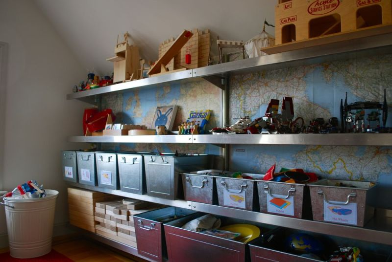 Playroom Shelving by E-Z Shelving Systems Inc