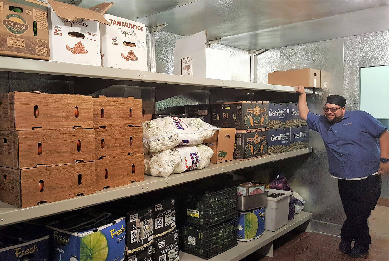 Restaurant Walk-in Cooler Shelving by E-Z Shelving Systems