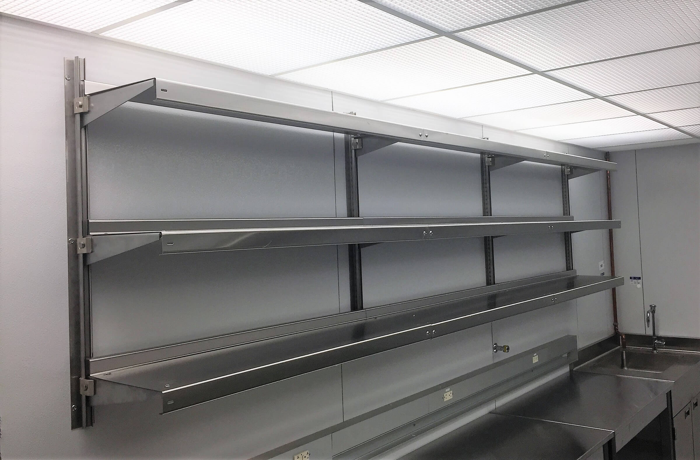Stainless Steel Laboratory Shelving by E-Z Shelving Systems, Inc.