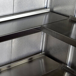 Stainless Steel Shelving for Clean Rooms and Laboratories