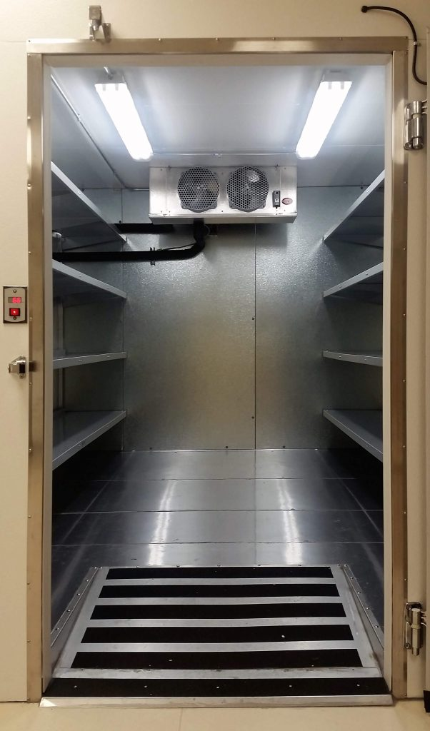 Walk-In Cooler Shelving for Mortuaries by E-Z Shelving Systems