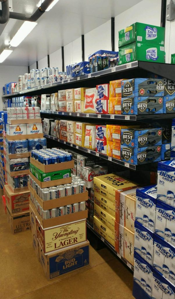 Wall-Mounted Beer Cave Shelving Systems