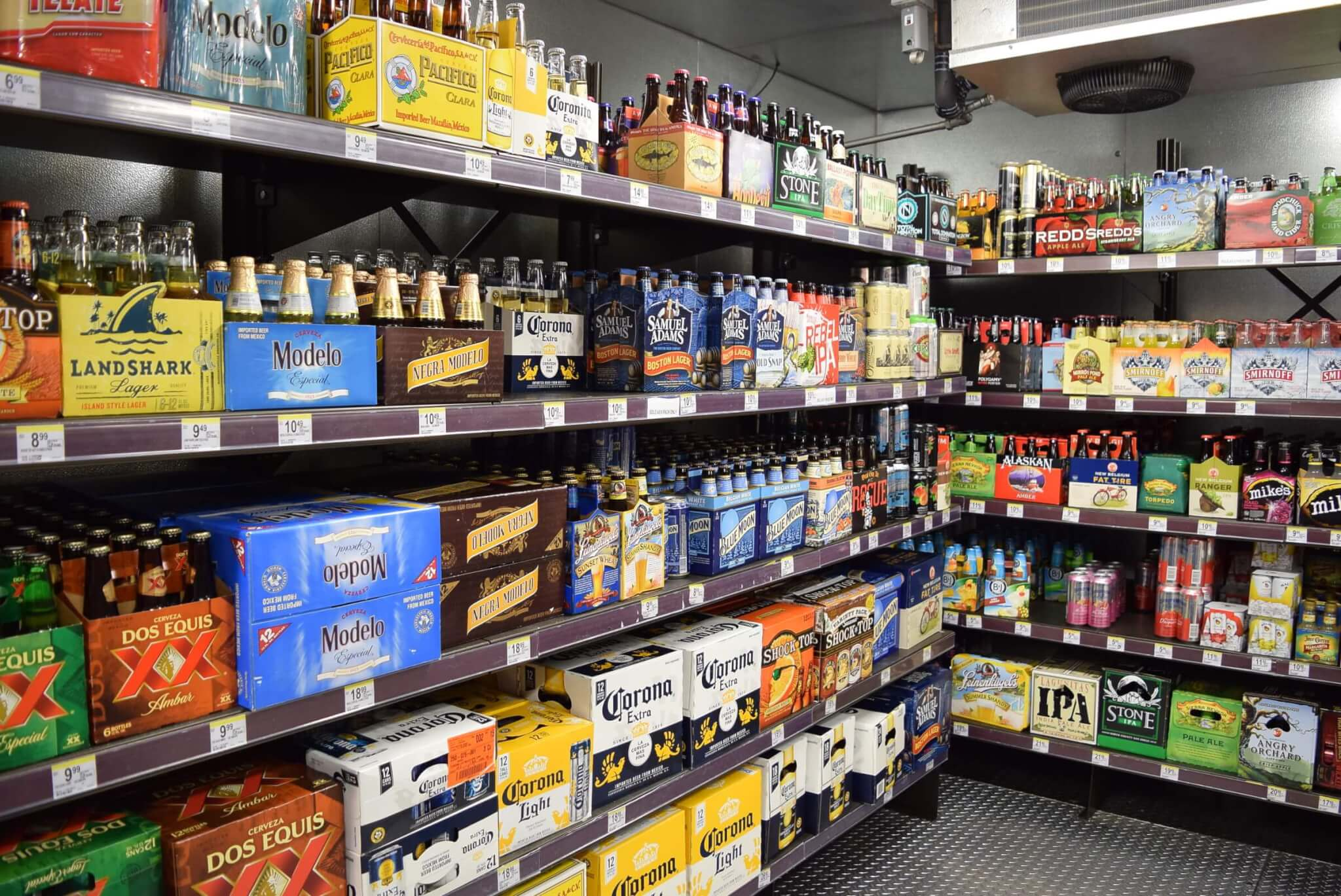 Beer Cave Shelving by E-Z Shelving Systems, Inc.