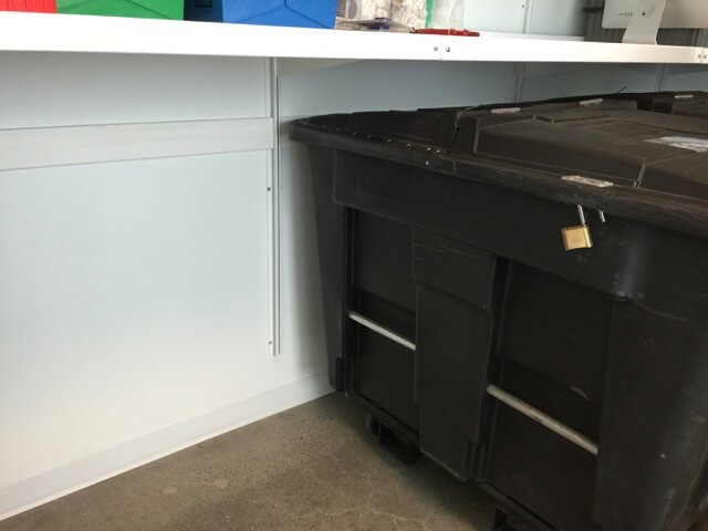 Wall-Mounted Storage Shelving by E-Z Shelving Systems, Inc.