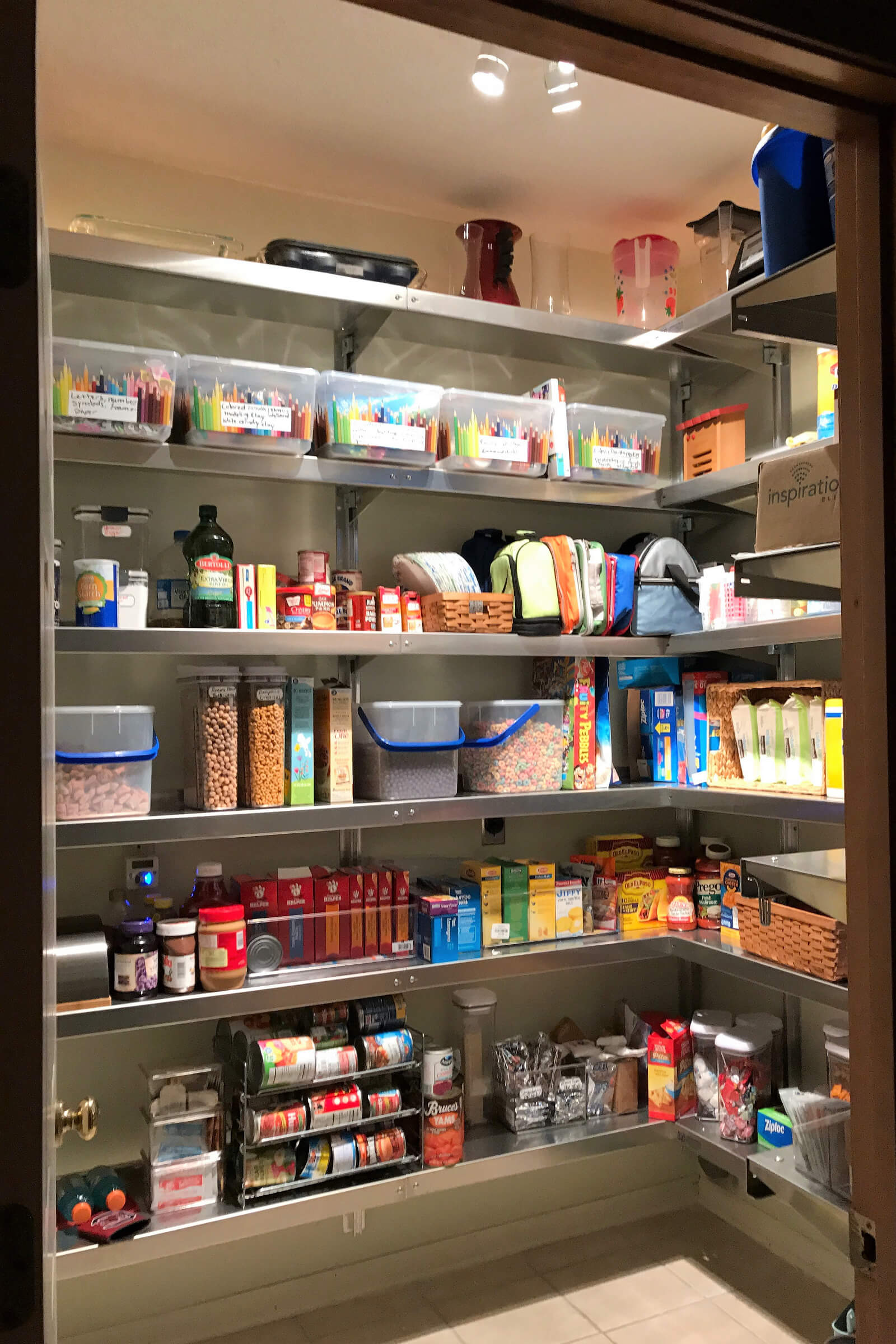 How To Organize Pantry Shelves