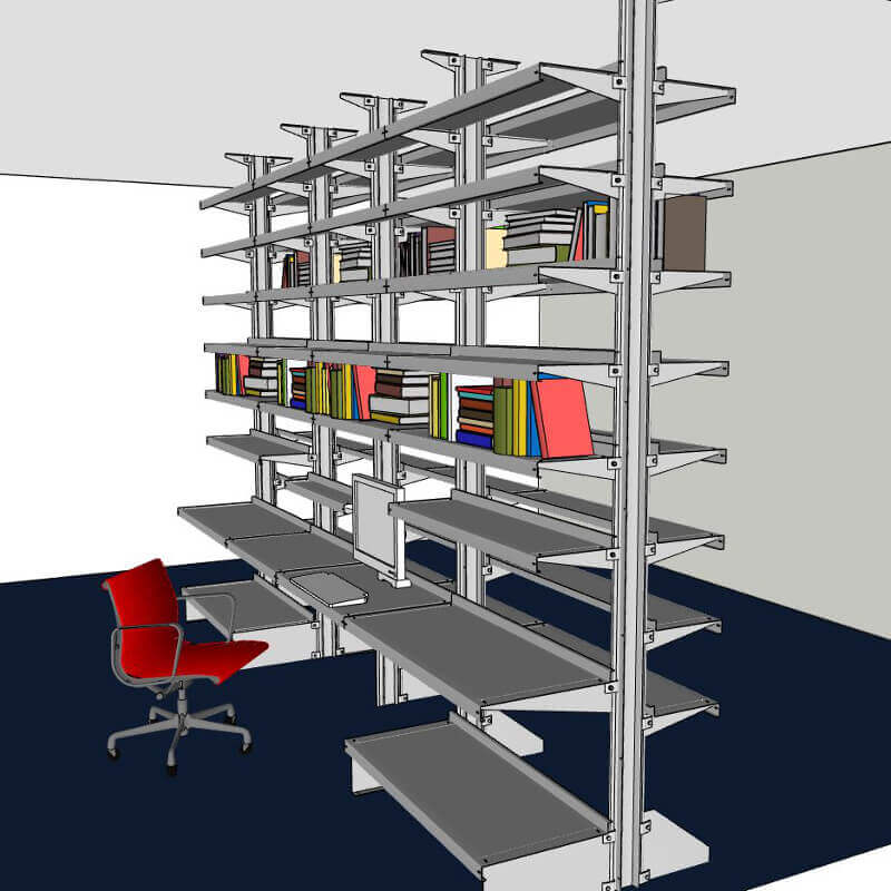 Room Partition Shelving by E-Z Shelving Systems, Inc.