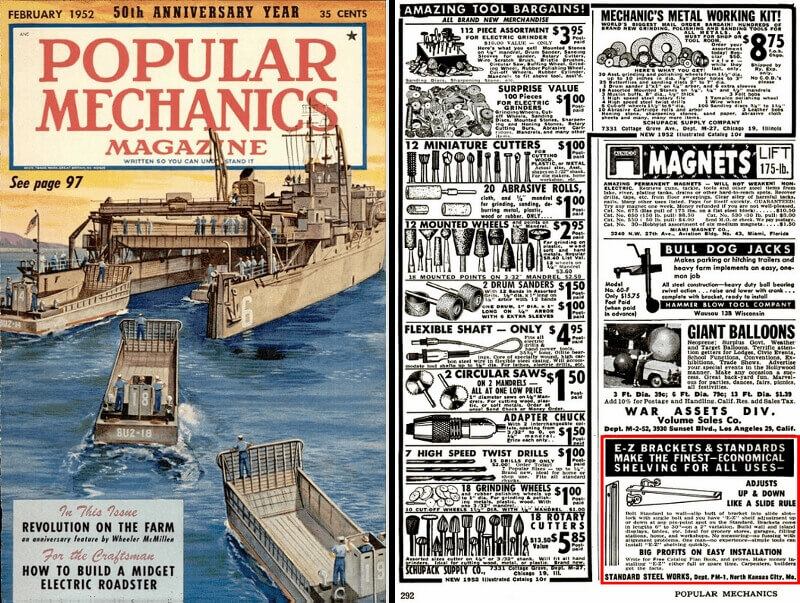 Vintage Popular Mechanics - E-Z Shelving Systems, Inc.